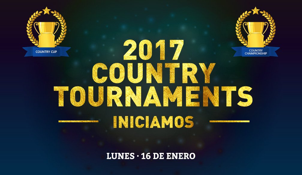 Se inician los COUNTRY TOURNAMENTS en enero