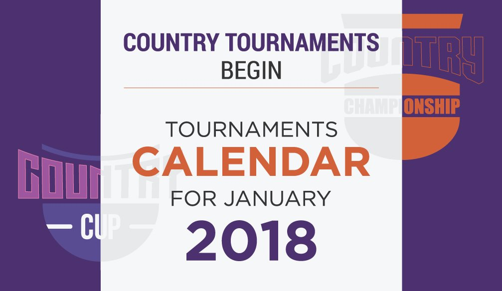 Tournaments Сalendar for January 2018