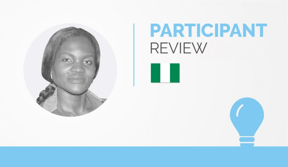 Participant Review – Onyekachukwu Nnoli