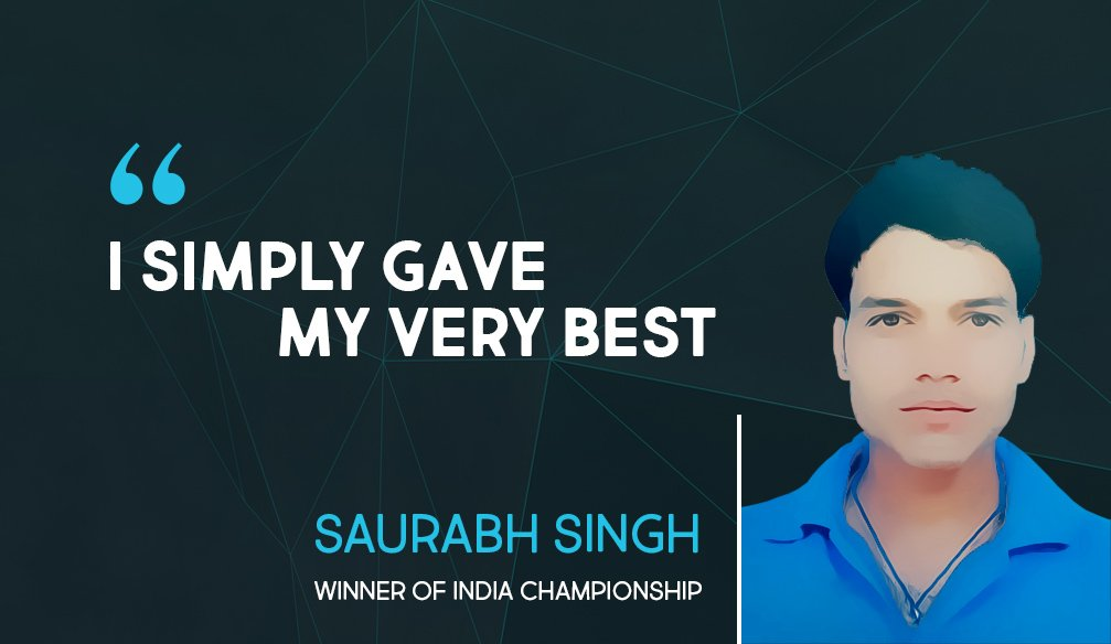 "Saurabh Singh: ""I consider all my competitors my equals"""