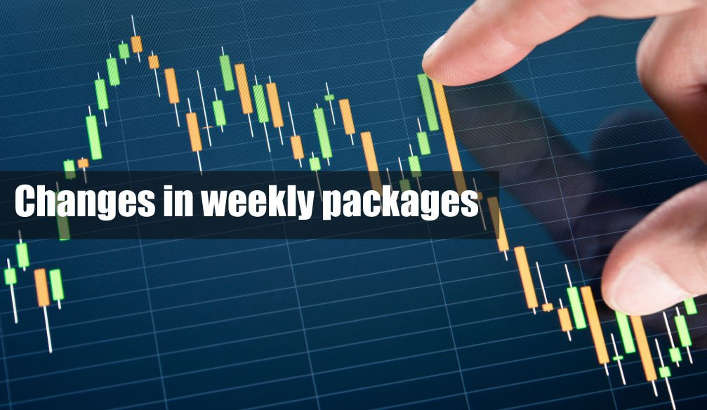 Changes in weekly packages