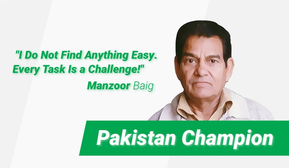 Manzoor Baig Celebrates His First Victory