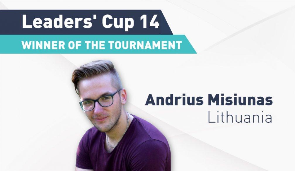 Winner of the Tournament – Andrius Misiunas, Lithuania