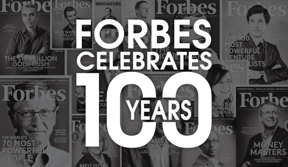 CONGRATULATIONS TO FORBES!