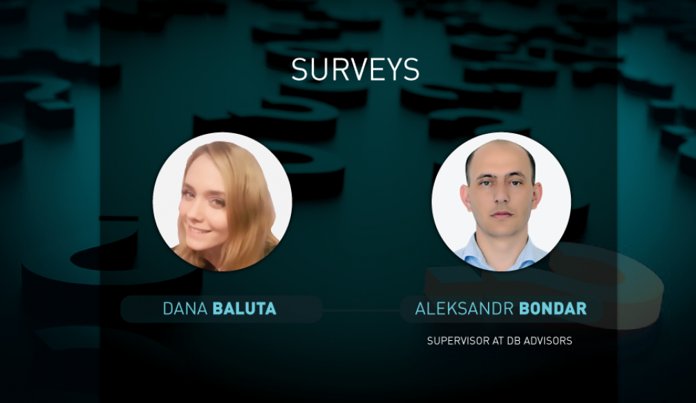 Opinions on questions of surveys for 26.09.2017: Dana Baluta and Aleksandr Bondar