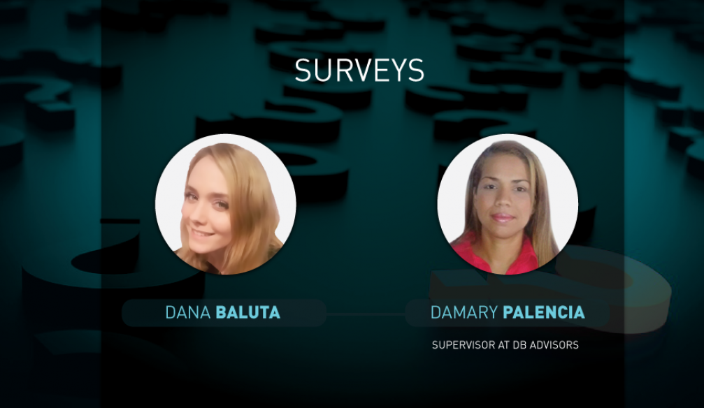 Opinions on questions of surveys for 29.09.2017: Dana Baluta and Damary Palencia