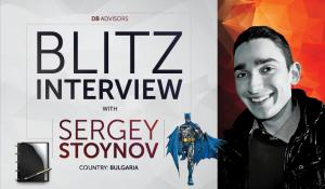 Blitz interview with Sergey Stoynov