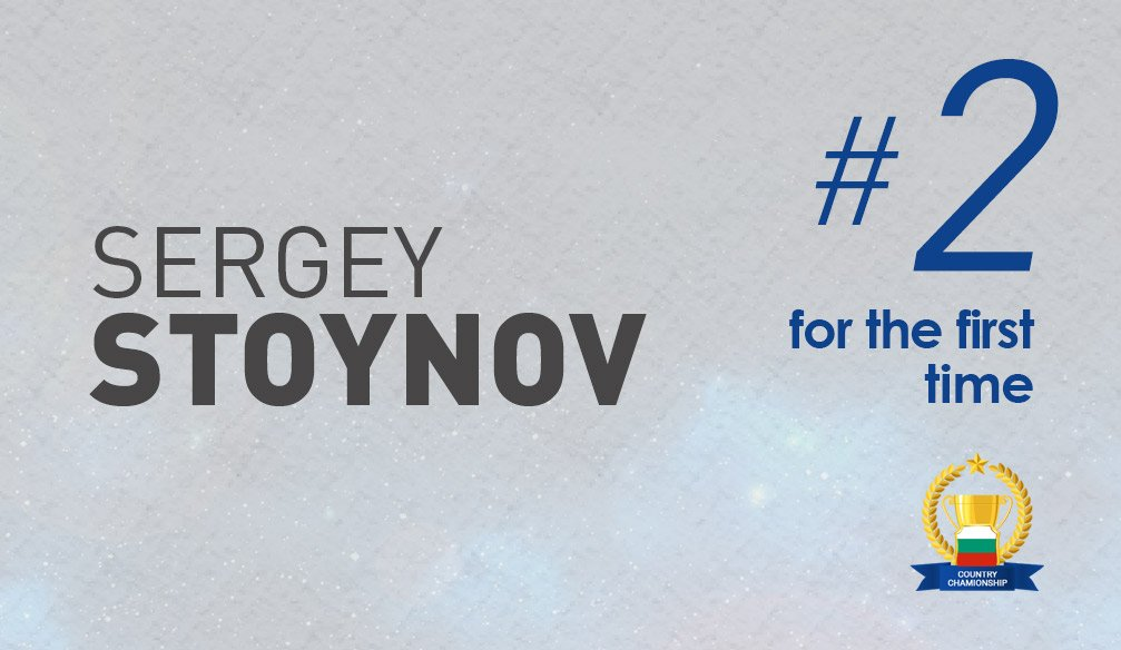 Sergey Stoynov Ranks 2nd for the First Time