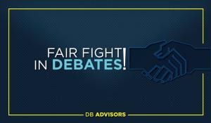 We call for the fair game in debates