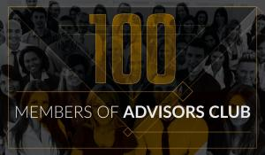 More than 100 people in Advisors Club