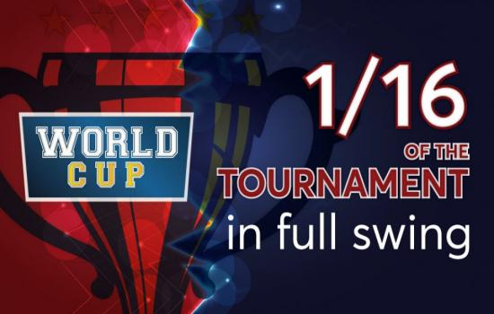 World Cup: 1/16 of the tournament